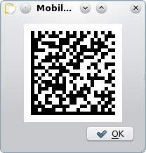 Mobile barcode in klipper
